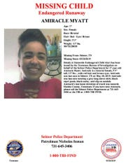 TBI's missing child alert for Amiracle Myatt
