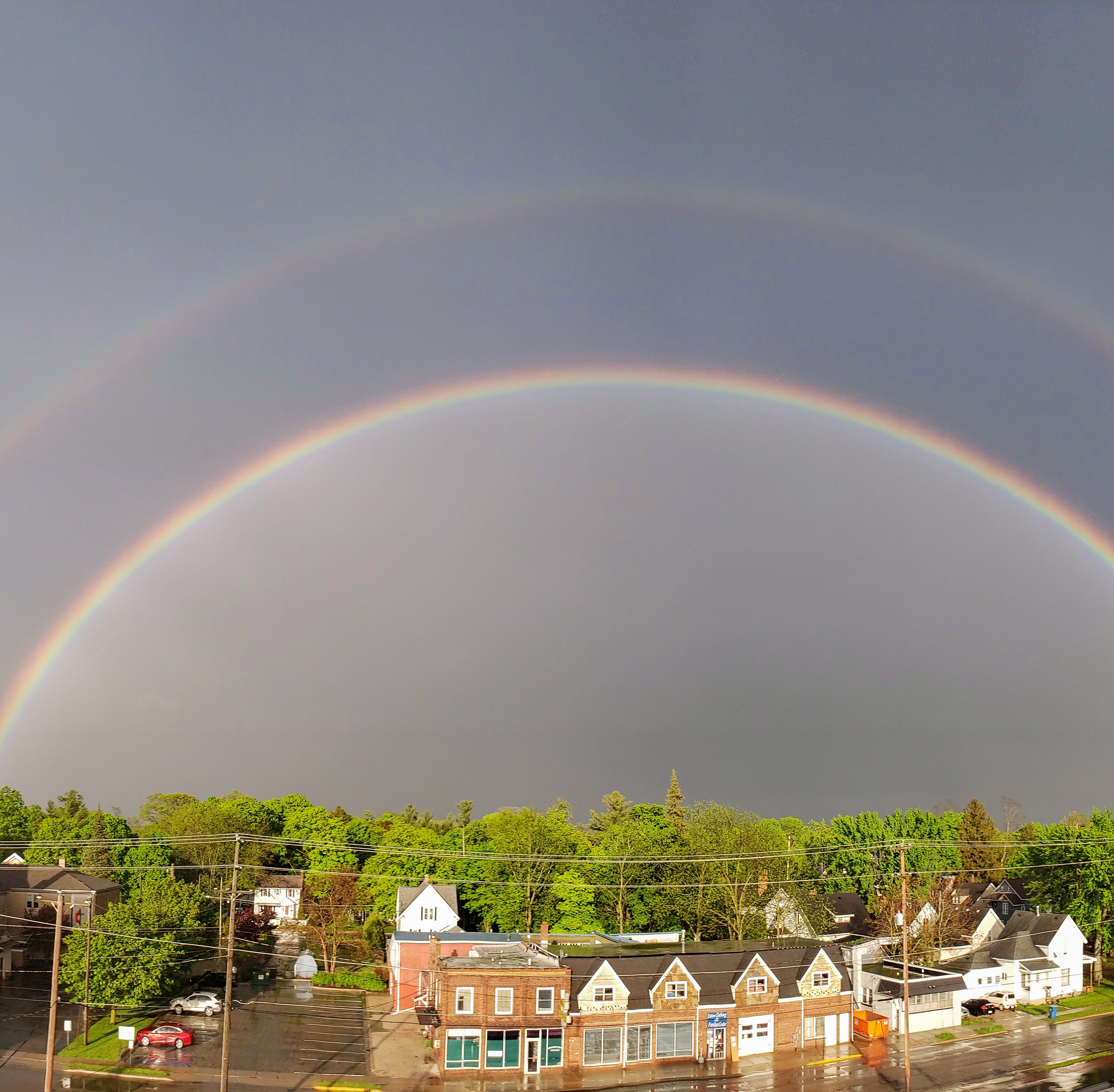 Double rainbow mystifies Lansing region after tornado warning. How rare are these?