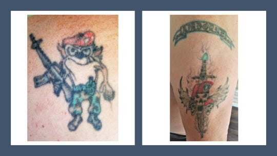 Manitowoc military veteran Todd Brehmer's tattoos.