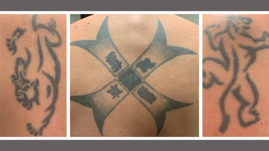 Manitowoc military veteran Nick Gosz's tattoos.