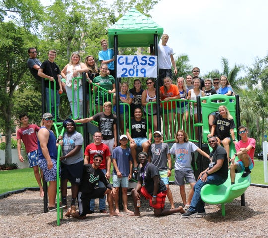 The Marco Island Academy senior class gathered at Gene Sarazen Park on May 14 to celebrate the end of the school year.