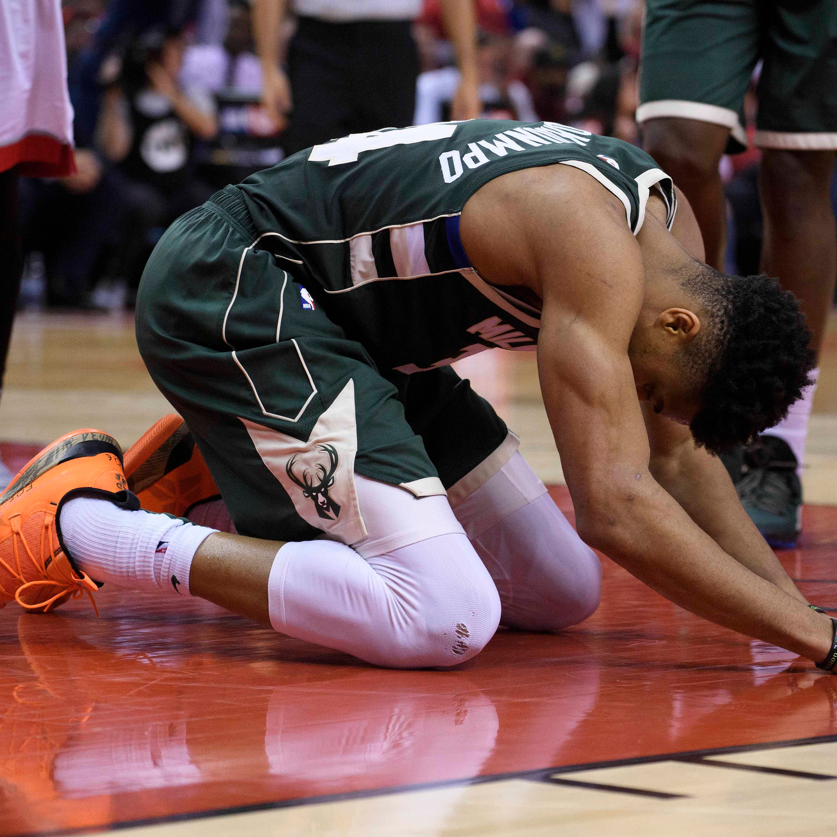 Bucks don't get enough from their Big 3, fall short in double-overtime thriller