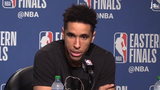 Bucks guard Malcolm Brogdon discusses his health and his team's performance against the Toronto Raptors in Game 3 of the Eastern Conference Finals.