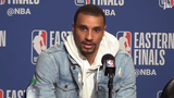 Bucks guard George Hill discusses the starters' difficulties from the field in their Game 3 loss against the Toronto Raptors.