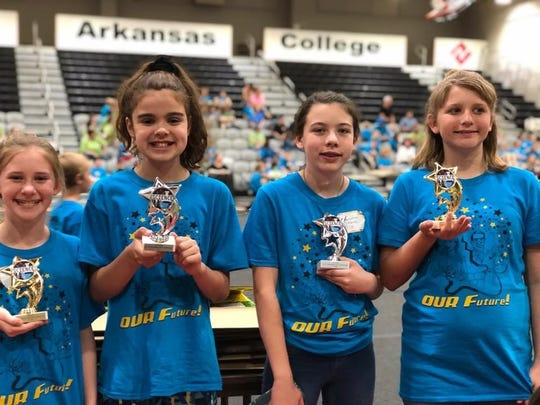 Eight fifth-grade students from Cotter's Amanda Gist Elementary competed at the district science fair on May 15. Winners were: Sarah DeAtley, first place in Physical Science; Kendra Morrow, first place in Earth Science; McKenna Collins, second place in Life Science; and Joey Harber, second-place in Physical Science B.