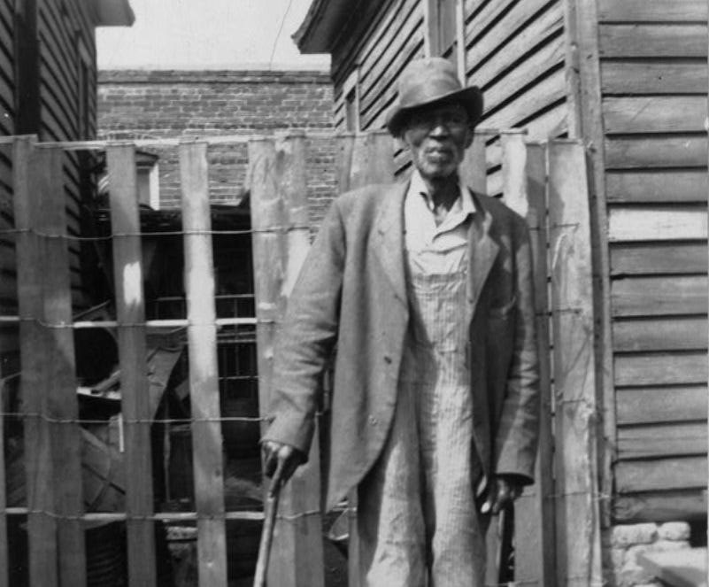 """William Colbert was born on a plantation in Fort Valley, Ga. in 1844, one of 165 slaves owned by a man named Jim Hodison, a man he recalled as an especially brutal person. """"When he was too tired to whup us, he had the overseer do it; and the overseer was meaner than master."""""""