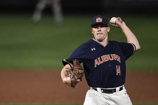 Auburn left-hander Elliott Anderson.