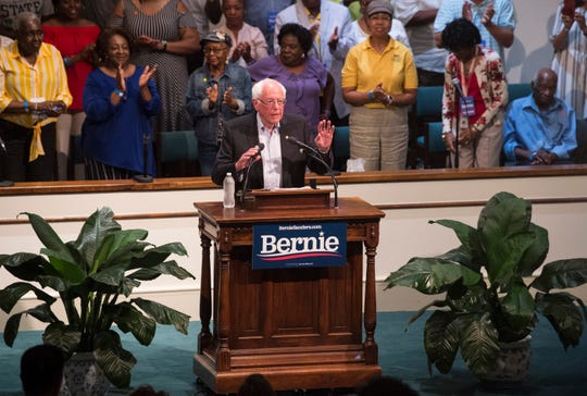 2020 Presidential candidate Sen. Bernie Sanders (I-Vt.) speaks at the Mt. Zion AME Church  in Montgomery, Ala., on Monday, May 20, 2019.