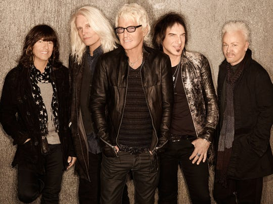 The members of REO Speedwagon. From left: Bryan Hitt, Bruce Hall, Kevin Cronin, Dave Amato and Neal Doughty.