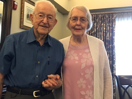 Max and Flossie Anderson will celebrate their 75th wedding anniversaryJune 25.