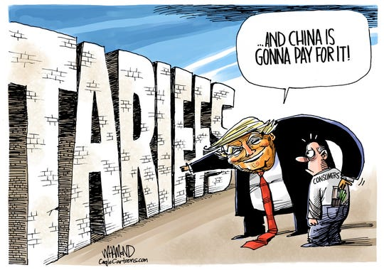 china is going to pay for it -- tariff wall