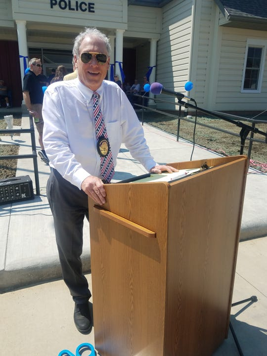 Mayor Compton briefly ordered flags lowered to half-staff to mark  National Police Week.