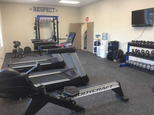 Portions of the new station were briefly opened to the public, including the new weight room.