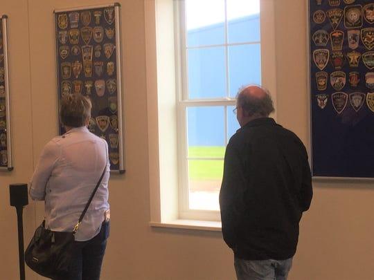 Citizens tour the new Pataskala Police Station.