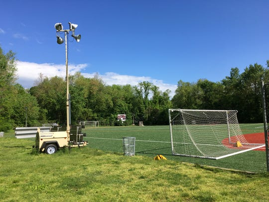 Portable lights at Maple Field could be replaced with permanent 70-to-80-foot towers with LED lights.