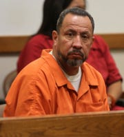 Las Cruces resident Gilbert Uranga waits to be arraigned on sexual abuse charges, Monday May 20, 2019.