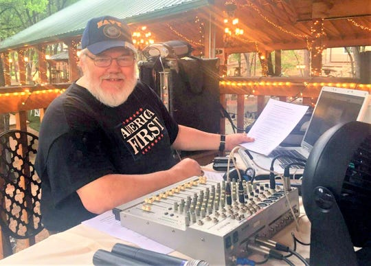 Harvey T often braodcast from local events, this one at the Sanctuary on the River.