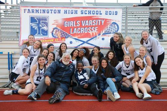 The Farmington girls lacrosse team celebrated its seniors last week.