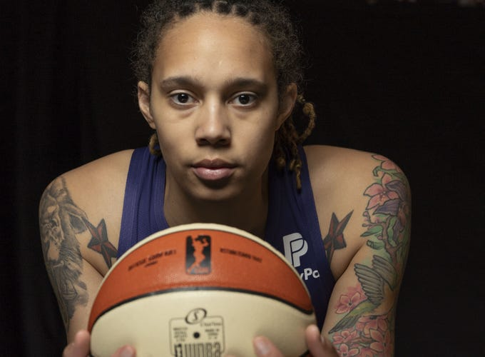 All-Star Brittney Griner, during the media day at Phoenix Mercury.