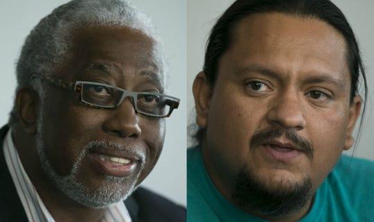 Michael Johnson (izquierda) y Carlos Garcia.