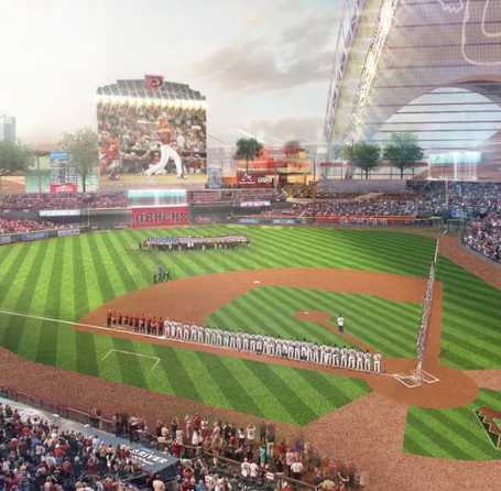 New Arizona Diamondbacks stadium images leaked by architectural firm?
