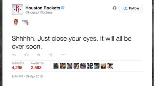 The tweet that got the digital communications manager fired.
