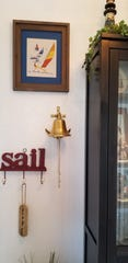 The home is filled with reminders of sailing.