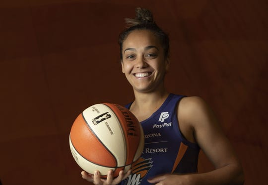 Portrait of Leilani Mitchell during the media day at Phoenix Mercury.