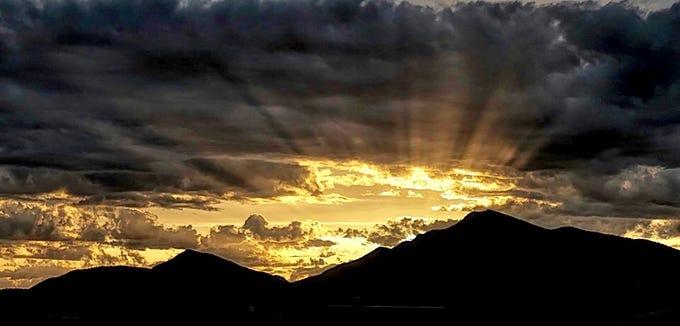 Spectacular Scottsdale sunset.