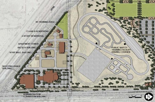 An overview of the Gilbert Public Safety Training Facility, expected to open in 2021 on the northwest corner of Power and Pecos roads.