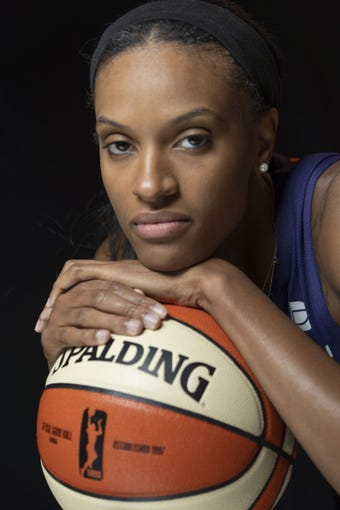 All-Star DeWanna Bonner during the media day at Phoenix Mercury.