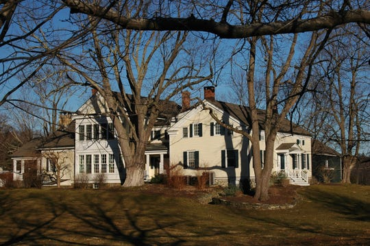 The 1.5-story Federal-style farmhouse built by Amos Lyon in 1823 (right section) on Windswept Farm in the Town of Clinton went through a considerable enlargement in recent years under new owners. The farm operated under the Lyon's family oversight from the mid-18th century through 1956.