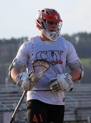 Kollin Vaught is seen here during his playing days at Central York High School.