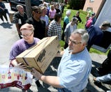 Wrightsville Presbyterian Church partnered with Columbia Presbyterian Church's Hands Across the Street program to provide food to the community.