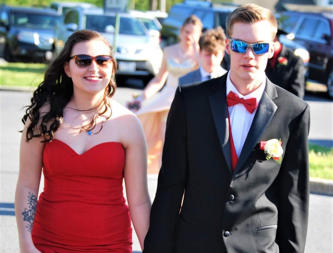 Ally Stevenson and Scott Sier at the Mardela Senior Prom