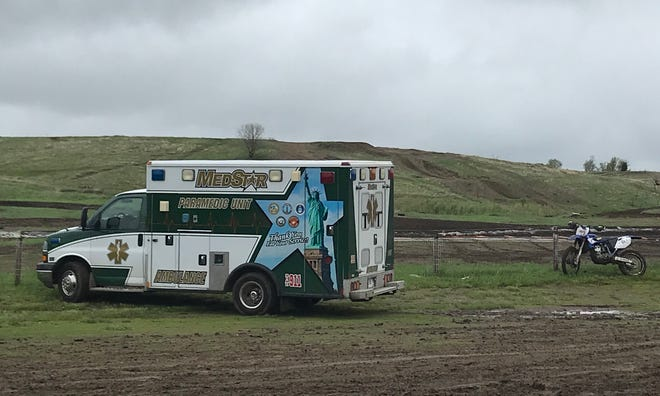 Med-Star Paramedics Ambulance, Inc. provided standby service for the Sioux Valley Cycle Club during a hare scramble event Sunday.