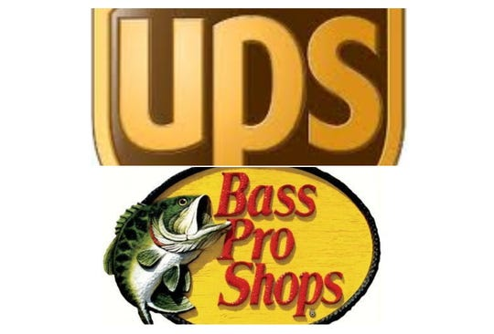 The UPS and Bass Pro Shops logos.