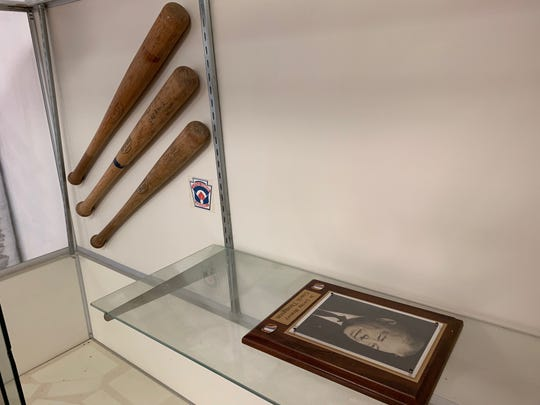 Vero Beach Little League officials were disturbed that Indian River Sports Complex Inc., which leased Thompson Rotary Field the past five years, stripped the complex of Little League history, including its trophy case. All that remained in the case as of May 17, 2019, were three wooden bats, including Pete Rose and Bake McBride models, and a plaque with a portrait of the field's namesake, James Thompson, former superintendent of Indian River County schools.