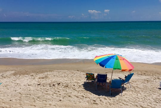 Expect crowded beaches along the coast during Memorial Day weekend. The beach in front of The Historic Driftwood Resort in Vero Beach was not overly crowded with residents and visitors in April.