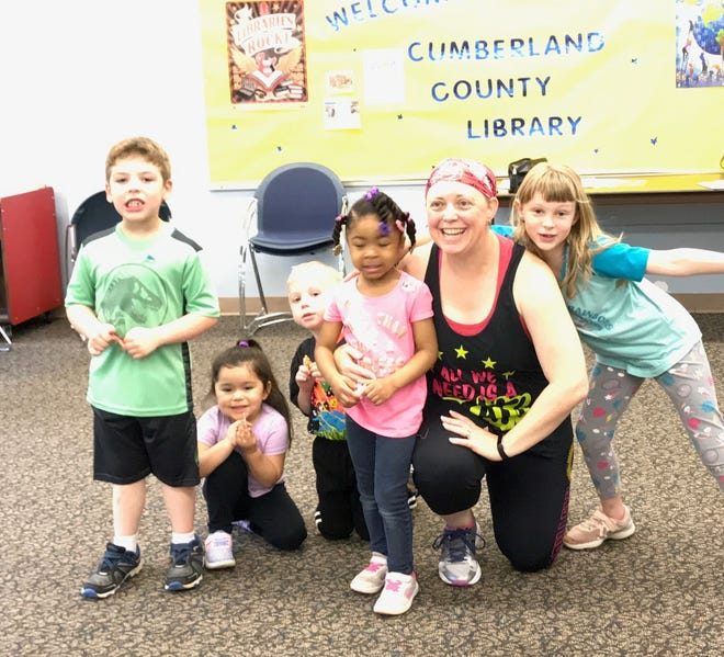 """Cumberland County Library in Bridgeton held its first Zumba for Kids program with instructor Jenni Schmidt-Spiker on May 18. Participants enjoyed a """"jam packed, danced filled morning."""" For information on children's programs at the library, call (856) 453-2210 or visit www.cclnj.org."""
