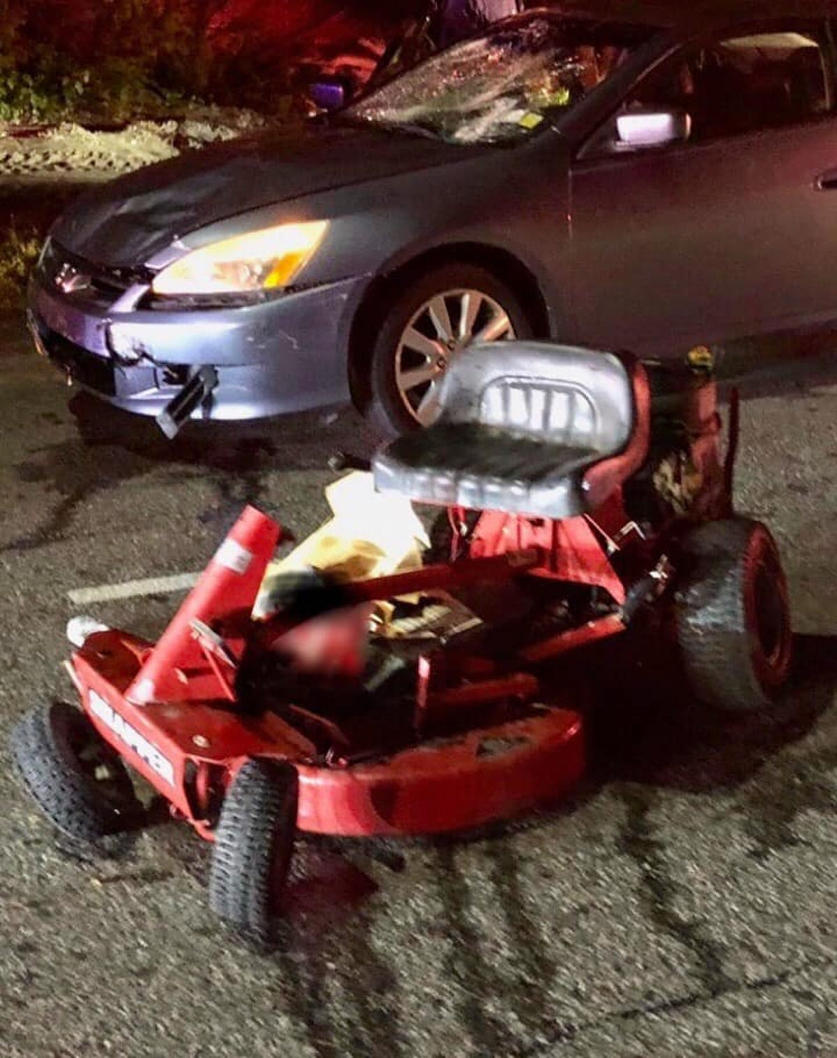 Man dies after Route 17 lawnmower crash