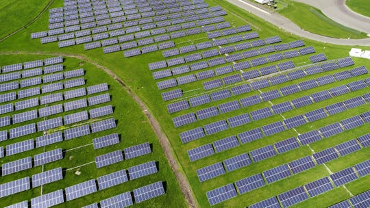 The Town of Clarkstown's solar field at the former landfill in West Nyack May 15, 2019.