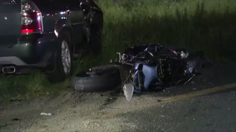 Update: Police identified the man killed in a Saturday night crash south of New Castle as Jonath Chapman, 30, of Newark.  Video provided by John J. Jankowski Jr.  5/20/19