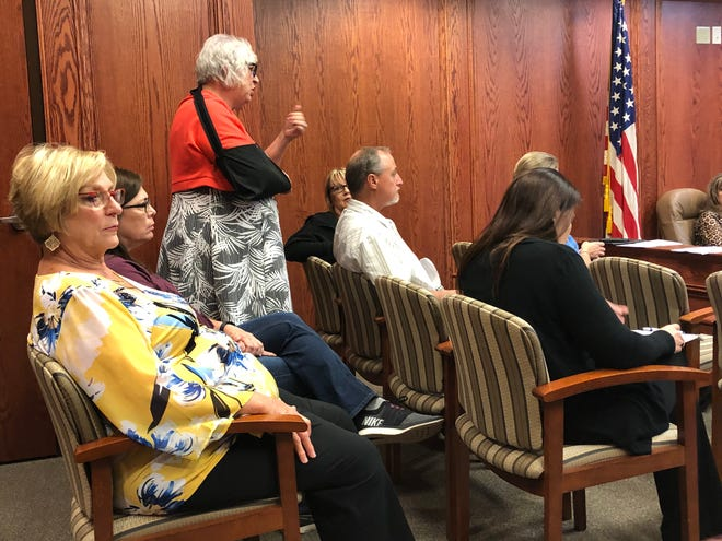 Wichita County justices of the peace expressed concern at a commissioners court meeting about the combination of bond office and chief magistrate office into one new department.