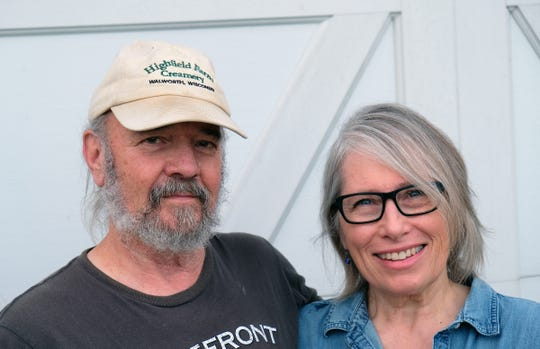 Terry and Denise Woods own and operate Highfield Farm Creamery in Walworth.