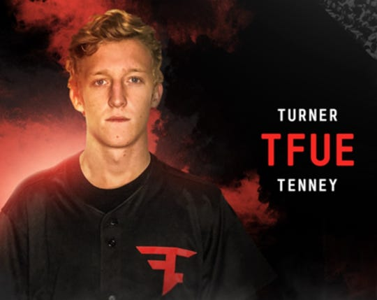 """Esports star Turner """"Tfue"""" Tenney, shown here on his Twitch channel, is suing his team FaZe Clan, saying its contract is """"oppressive"""" and takes up to 80% of his earnings."""