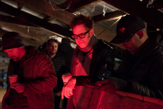"""Producer James Gunn watches a scene unfold on the set of """"Brightburn."""""""