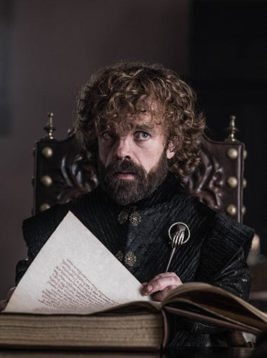 Not surprisingly, surviving Lannister sibling Tyrion (Peter Dinklage) plays a major role.