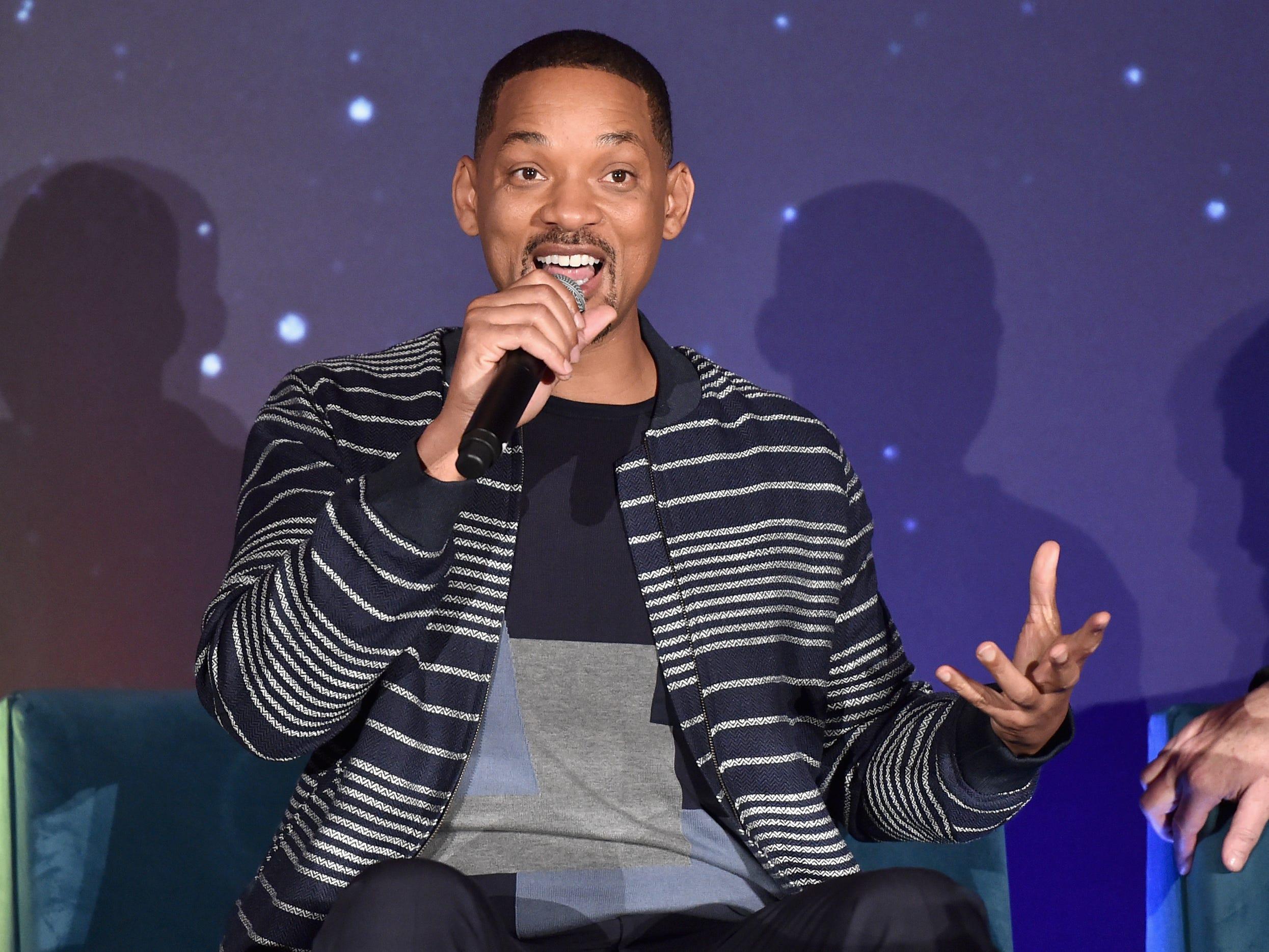 "Will Smith participates in a press conference for ""Aladdin"", in Los Angeles."