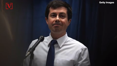 "Pete Buttigieg said it's hard to look away from ""grotesque things"" when talking about President Trump's Twitter feed. Veuer's Justin Kircher has more."